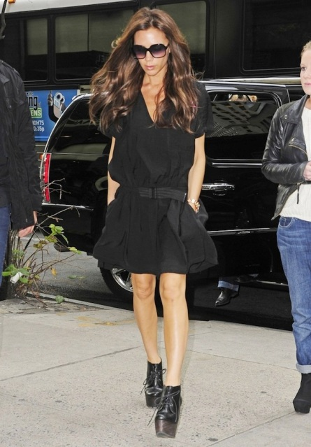 Victoria-Beckham-Balenciaga-Dress-Lanvin-Crazy-Lace-Up-Wedge-Bootie-UpscaleHype-3